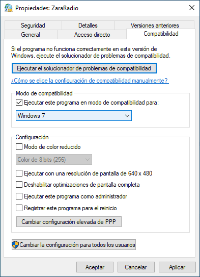 ¿ZaraRadio Compatible con Windows 10?