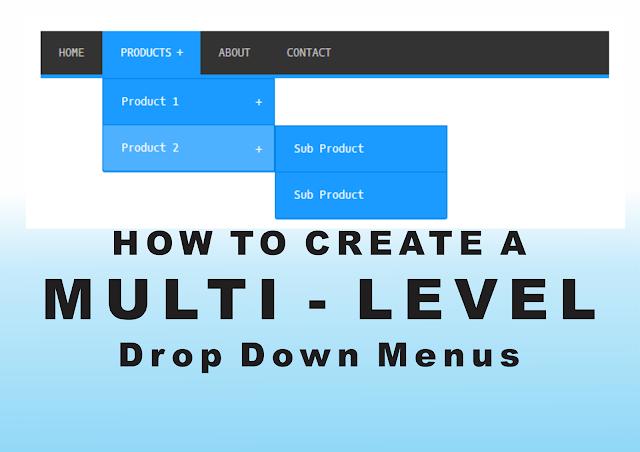 HOW TO CREATE A MULTI-LEVEL DROP DOWN MENU