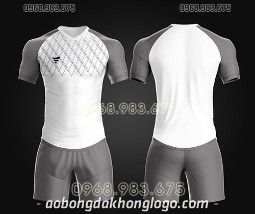 Áo bóng đá ko logo TA Spe màu trắng