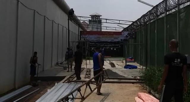 Pembersihan Dan Perawatan Lapangan Tembak di Lapas Narkotika Jakarta