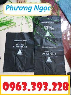 Túi rác y tế, túi đựng chất thải y tế, túi rác bệnh viện có logo y tế D4de77c9689891c6c889
