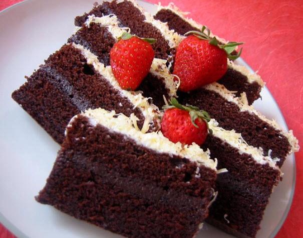 Resep Cake Kukus Keju Coklat: Resep Kue Brownies Kukus Coklat Strawberry Dan Cara