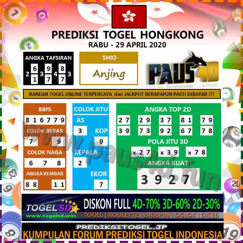 Prediksi Togel Hongkong 29 April 2020 - Prediksi Paus4D