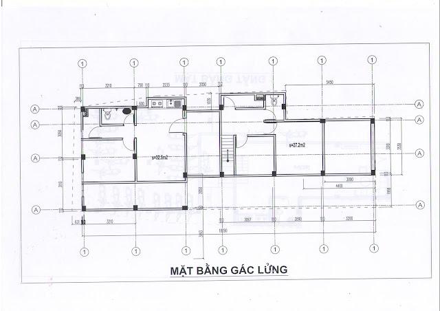 Mặt bằng căn hộ tầng lửng chung cư mini 173 Đông Ngạc giá rẻ nhất Hà Nội