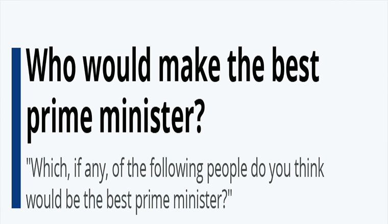 Who would make the best prime minister?