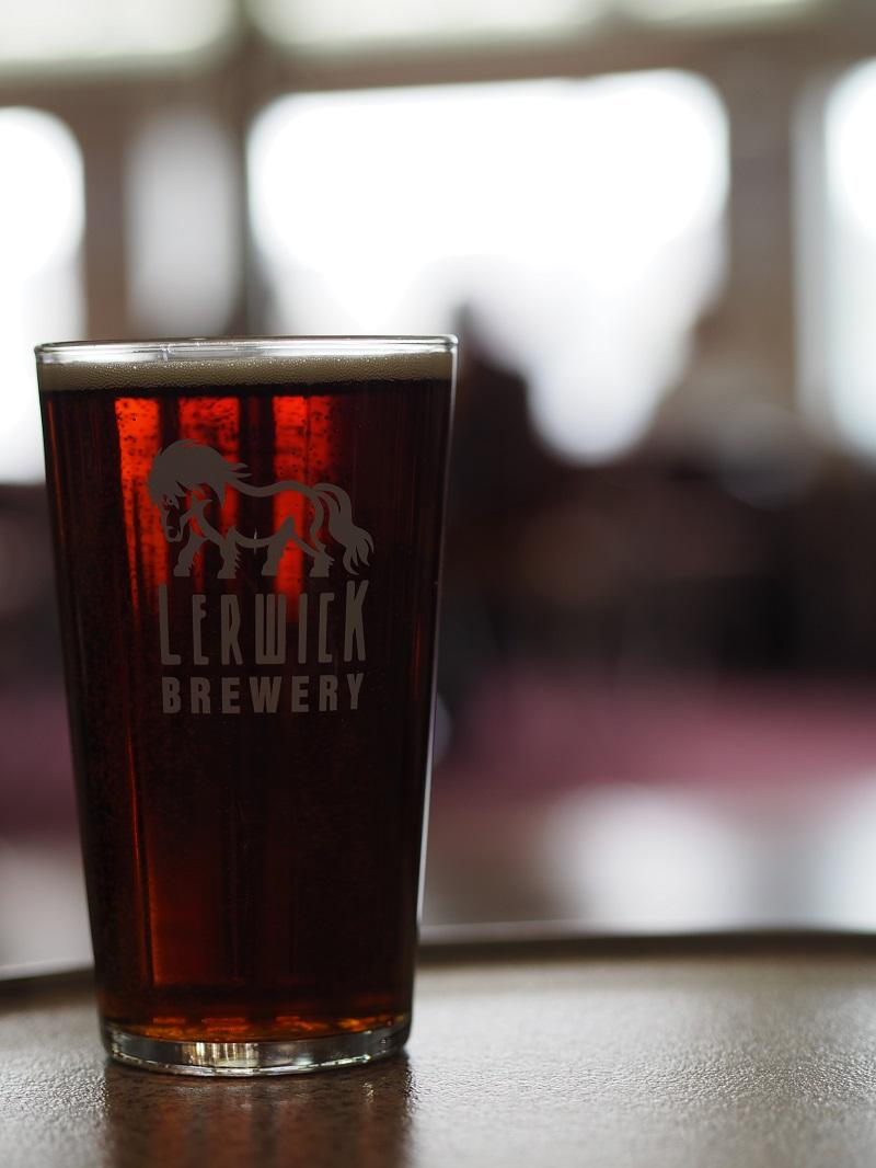 Lerwick brewery pint on board Northlink ferries
