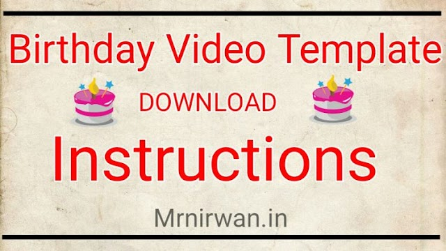 How to download Birthday Video Template | Download Any Video From Google Drive