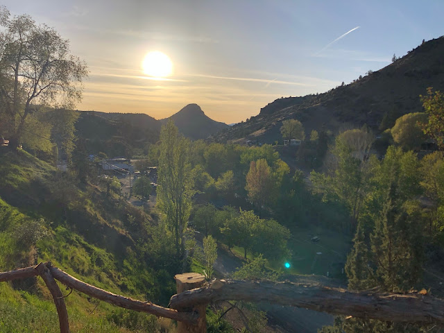 valley at sunet