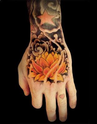 tato bunga teratai