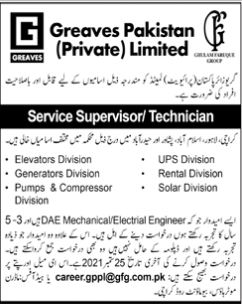JOBS | Greaves Pakistan (Private ) Limited