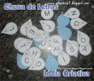 Jogo Pedagógico Letras do Alfabeto