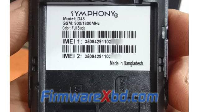 Symphony D48 Flash File MT6261 Official Firmware
