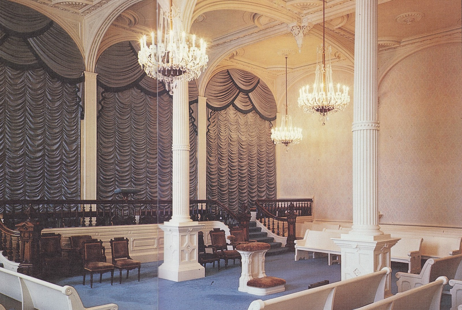 Historic Lds Architecture Manti Temple Interior
