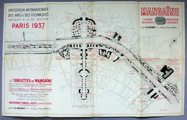 Plan de l'exposition 1937