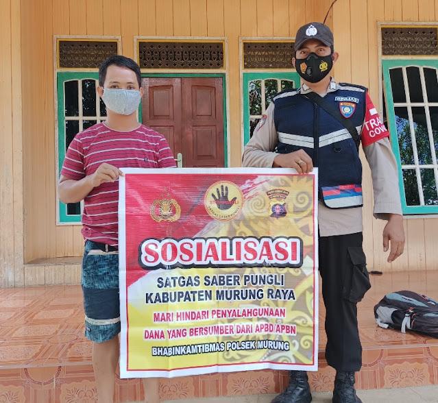 Polsek Murung Gelar Sosialisasi Saber Pungli Di Desa Muara Untu