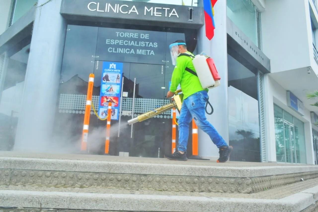 todo tipo de agentes contaminantes fueron eliminados de las superficies de áreas comunes de alto flujo de personas en Villavicencio