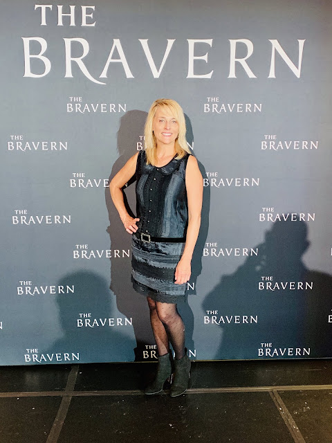 Fashion Blogger and Writer wearing designer dress by Anna Sui at Bravern Fashion Week