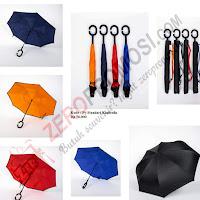 Payung Tongkat Kasbella Luar Hitam Dalam Warna (Py std Kazbrella)