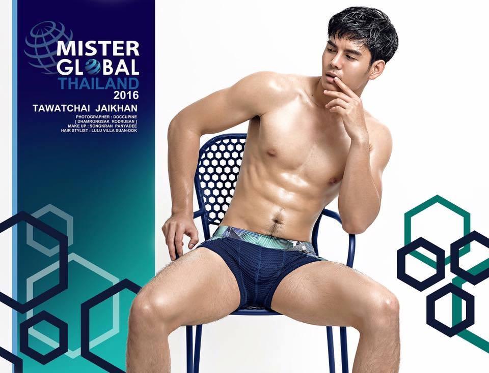 Ngắm body nóng bỏng của Mister Global Thái Lan (Có fb)
