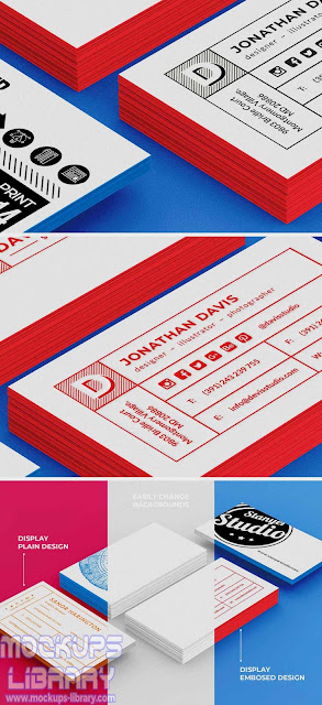 stack of business cards mockup 1