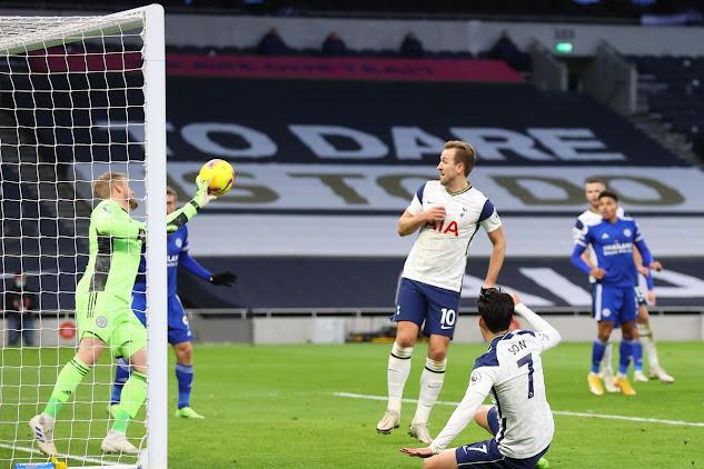 ملخص مباراة ليستر سيتي وتوتنهام (2-0) اليوم الاحد في الدوري الانجليزي