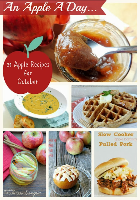 From the sweet to the savory, here are 31 tasty apple recipes you can enjoy each day of October.