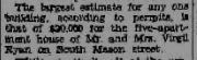 Report of permit to remodel Daily News Record 25 Mar 1937 https://jollettetc.blogspot.com