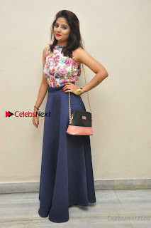 Kannada Actress Mahi Rajput Pos in Floral Printed Blouse at Premam Short Film Preview Press Meet  0024.jpg