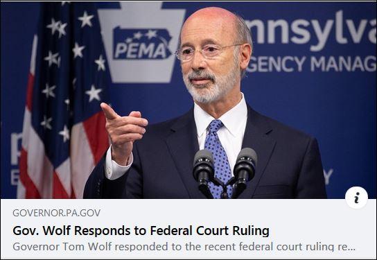 https://l.facebook.com/l.php?u=https%3A%2F%2Fwww.governor.pa.gov%2Fnewsroom%2Fgov-wolf-responds-to-federal-court-ruling%2F%3Ffbclid%3DIwAR1FTvsw_fl-sAOalejL5bxixey4d9SuNUQ_QoteLvaqasEBaX-TRg-2w30&h=AT29Deo2giRw4mwcGbtsgO1KZ1omlT-ik9xAMcl-p5dZV0iXWKGh_-wU3poK-MkLKd8J8XZPc889ex-rS0ue_b3YKmSBbamVGcIyvDLHCW3qcdrYcOU88INTGQ7xg6AgD7Q&__tn__=%2CmH-R&c[0]=AT1fKzK8_IBiYk65QdIP6I7rDciC8wg2HKus5R-vLb1FN0c8unjGZKJA_C_ehXEhlXYp-zgbOudCGa14WR5lsBOhqHQENc6YsdNa7dxUrGdVwnkP_6IfbERdlcO_Bgs8brq8Kf22xFxqLw1GUHCdba-ZHnr1HyRNNTjMjomMyOvVqZuALAFp5F-uIGgZfZE0pxp-ik0F3BdDMBr9ge5xdlMd8MvOWA