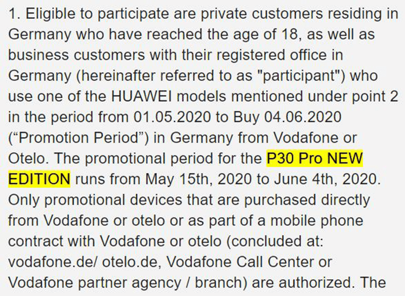 The screenshot showing that Huawei will launch the new edition P30 Pro on May 15