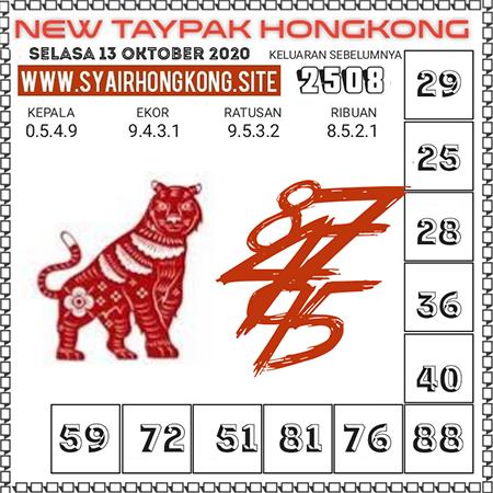 Prediksi Togel New Taypak Hongkong Selasa 13 Oktober 2020
