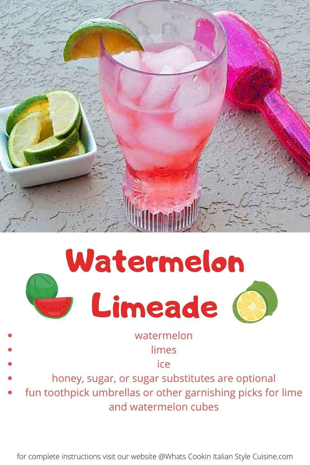 this is a pin for later watermelon lime beverage