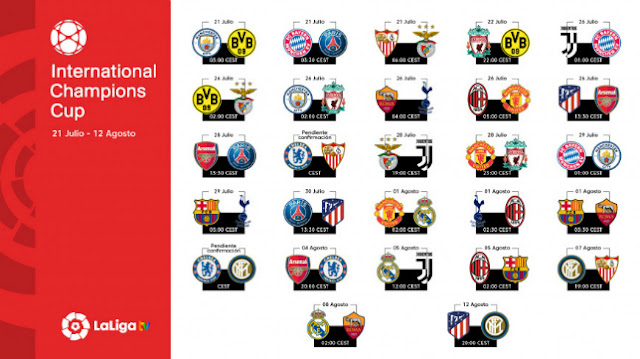 enfrentamientos international champions cup