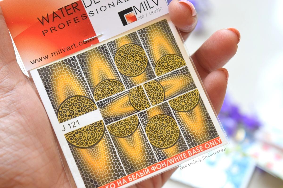 MilvArt Nail Water Decals
