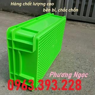 tndb2.3 - Thùng nhựa B2, khay nhựa đặc, hộp nhựa B2, sóng nhựa công nghiệp có nắp