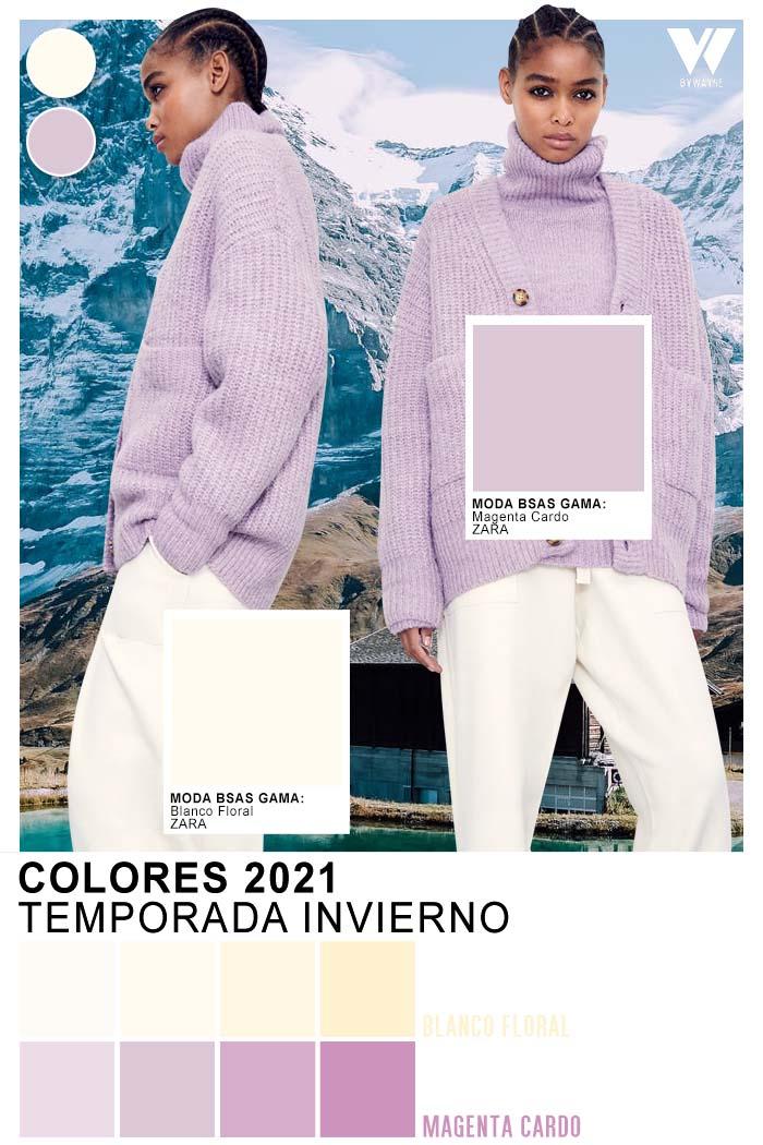 Colores de moda en tejidos otoño invierno 2021