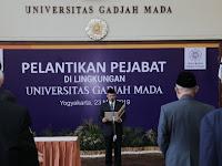 Rektor UGM  Minta  Pejabat Baru Harus Laksanakan Fakta Integritas