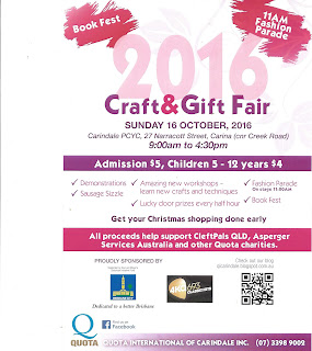 Quota Craft and Gift Fair brochure front page