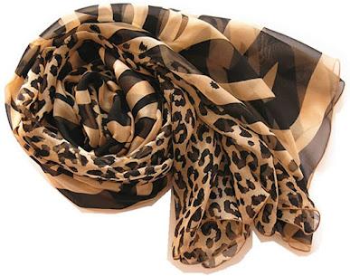 Leopard Pattern Chiffon Scarves