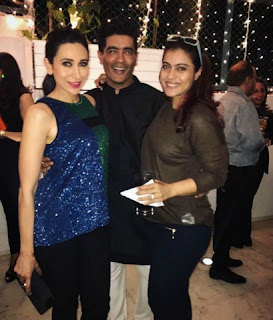 Karishma and Kajol came in the party and entertain with others