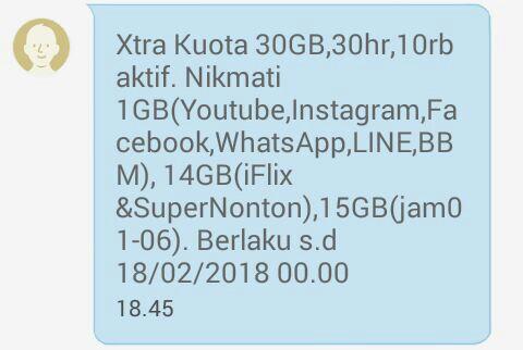 Mengubah Kuota iFlix Super Nonton XL Reguler