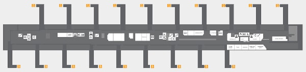 KLIA2 Departure Gate Layout Map