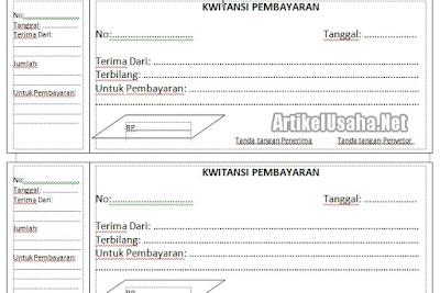 Lengkap Download Kwitansi Kosong Format Doc Dan Excel