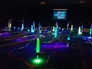Emily's friends and colleagues were at the Electronic Retailing Association's Great Ideas Summit in Orlando, Florida and found there was a miniature golf course set up for a Tee Up Tuesday Evening Reception! Photo by Liezl van Zyl