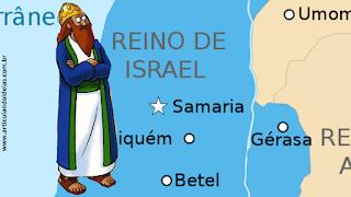 Rei Acabe no mapa de Samaria