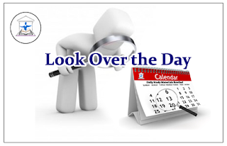 Look Over the Day – 11th April 2016