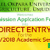 MOUAU Direct Entry 2017/18 Admission Screening Exercise Begins