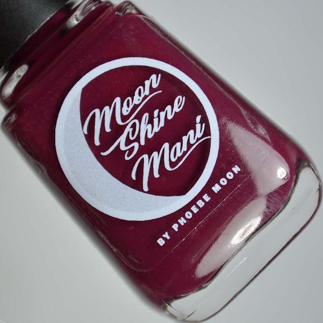 oxblood nail polish in bottle