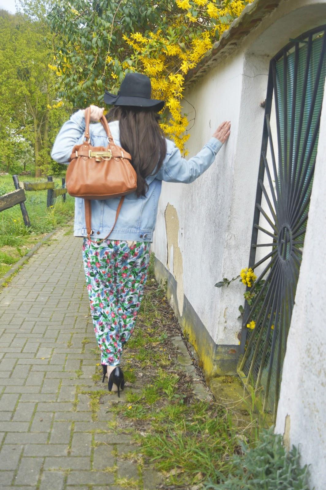 Harem pants & blouse backside Outfit