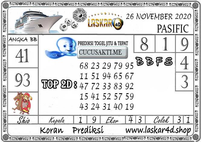 Prediksi Togel PASIFIC LASKAR4D 26 NOVEMBER 2020